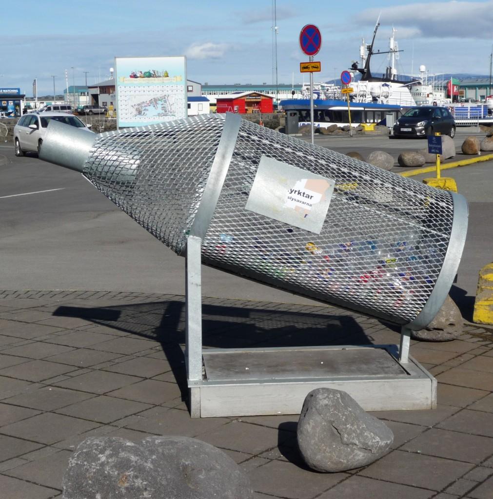 Plastic Bottle bin Iceland